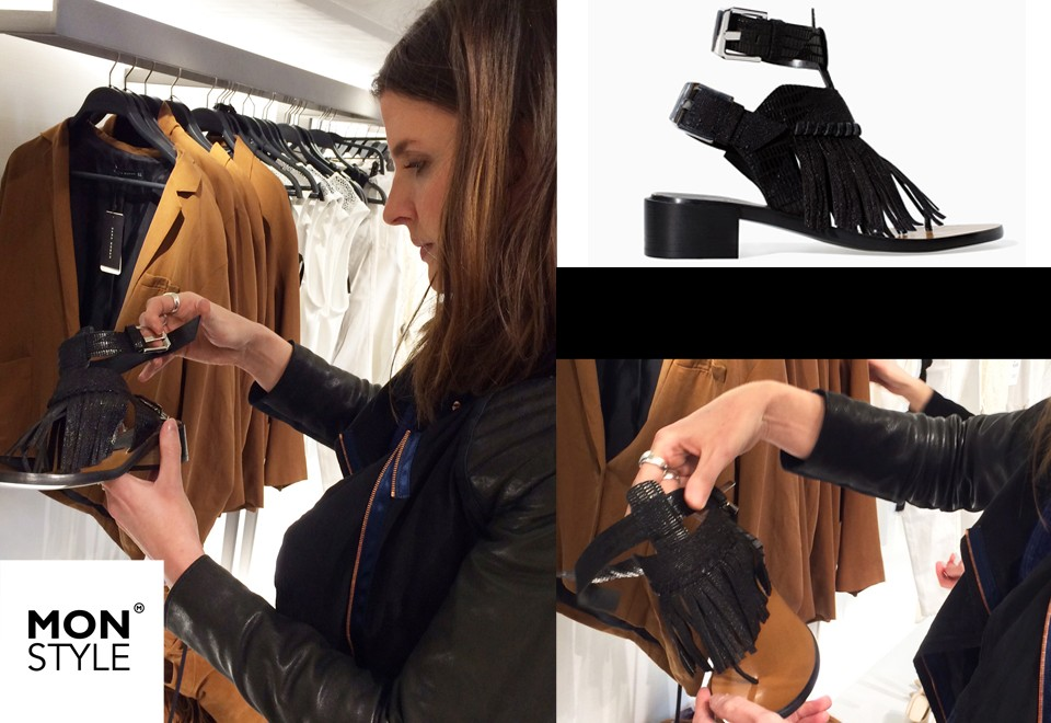 Spotted by Manon: Fringed Sandal