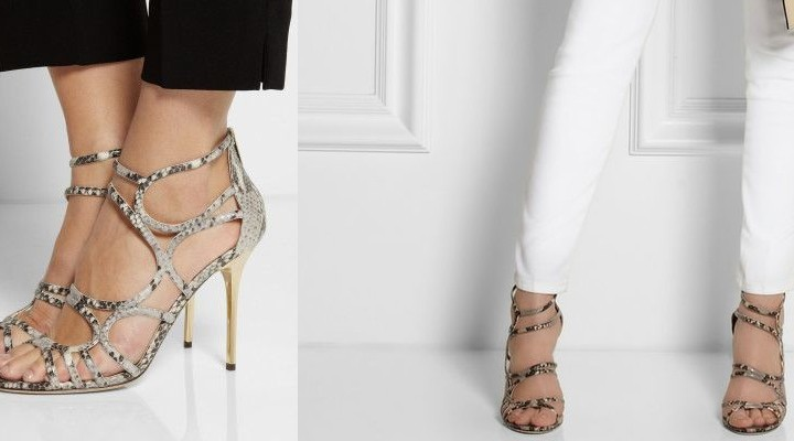 Jimmy Choo Snake Sandals