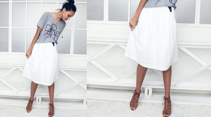 Steal the look: Midi skirt