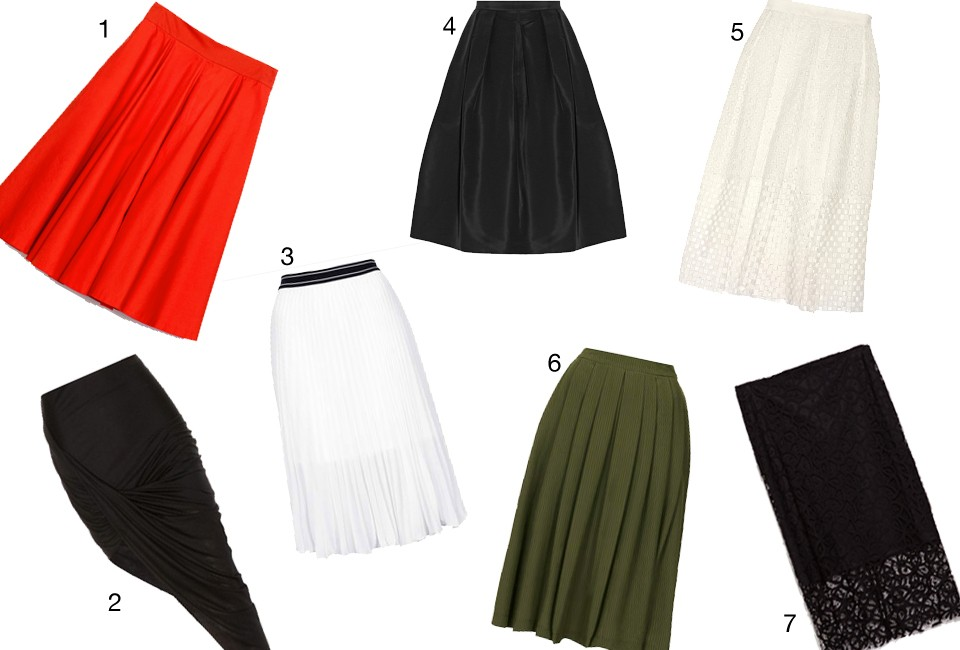 Midi skirts styling