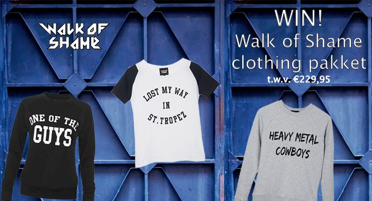 WIN: WALK OF SHAME pakket t.w.v. € 229,95