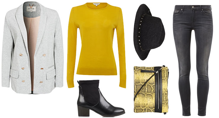 Styled by Manon: Look #81 / Yellow sweater