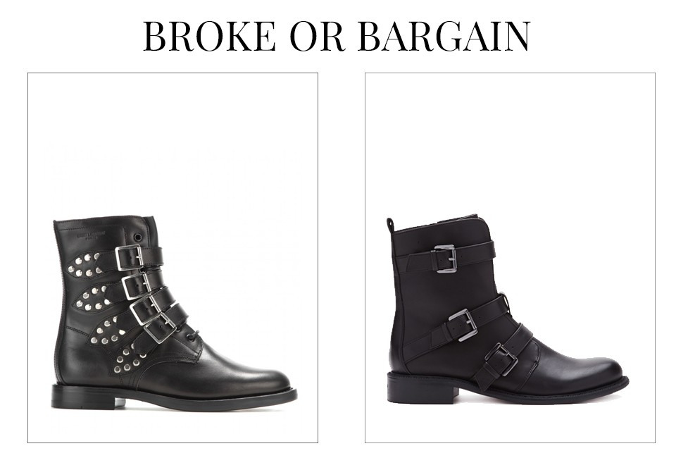 saint laurent studded boots