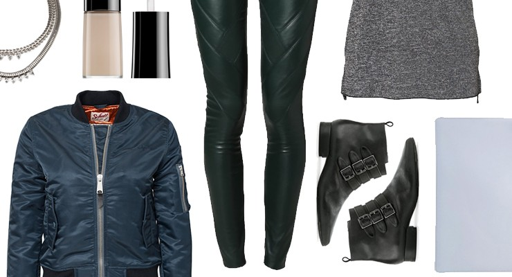 styled by Manon: Look #159 / Green leather pants