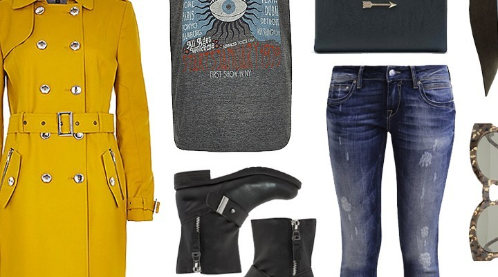 Styled by Manon #200 / Yellow trenchcoat
