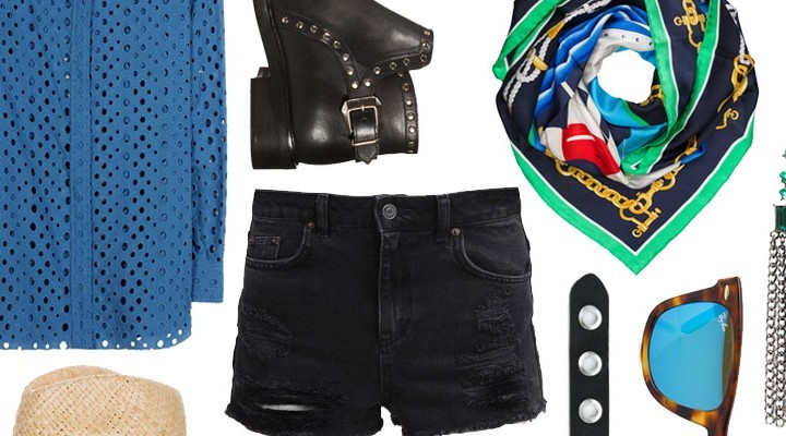 Styled by Manon #267 / Black jeans shorts