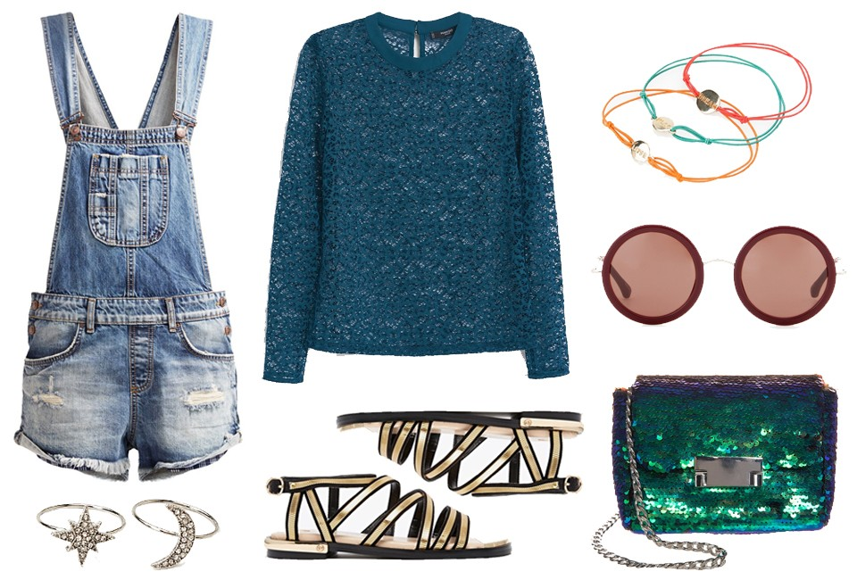 Dungaree festival look