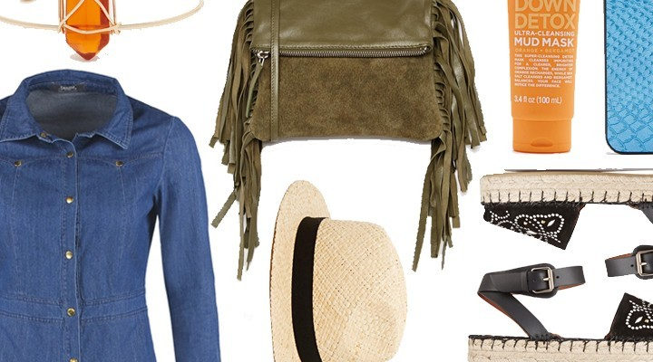 Styled by Manon #330 / Green fringe clutch
