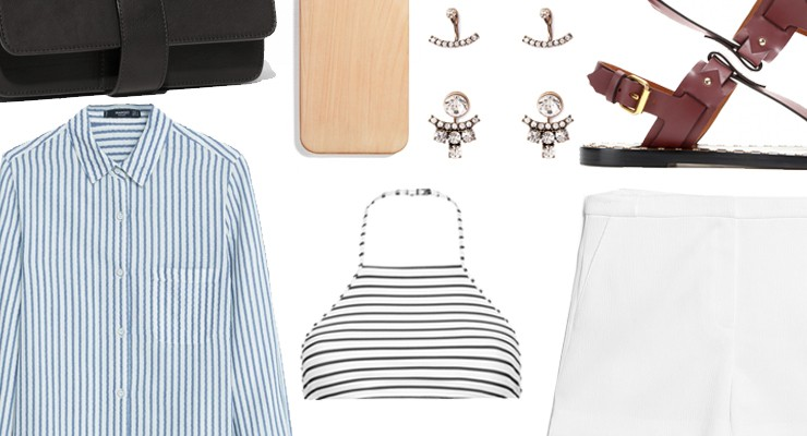 Styled by Manon #336 / Blue striped blouse