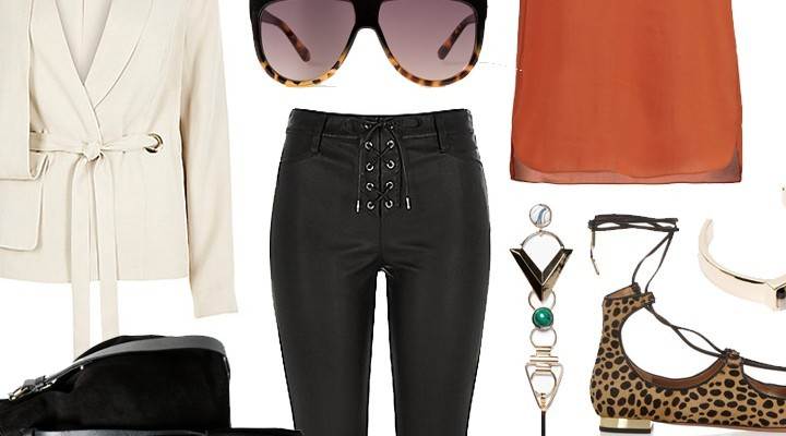 Styled by Manon #387 / Black lace up trousers