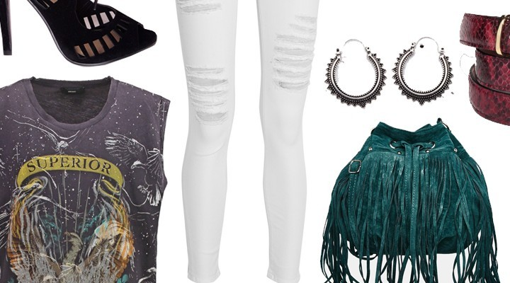 Styled by Manon #379 / White ripped jeans