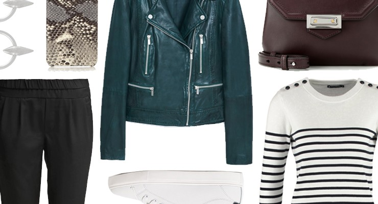 Styled by Manon #419 / Green leather jacket
