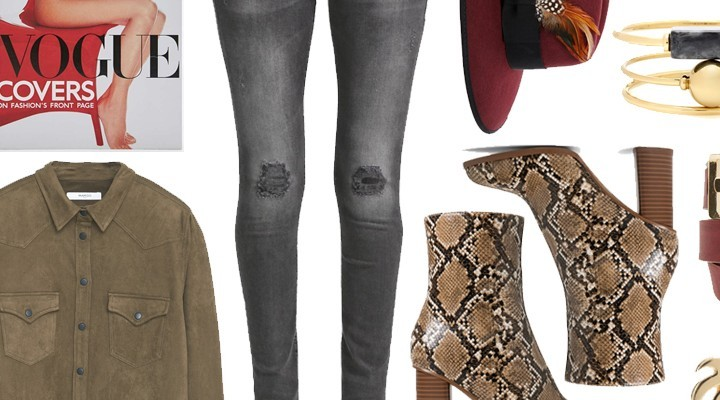 Styled by Manon #403 / Snake skin boots