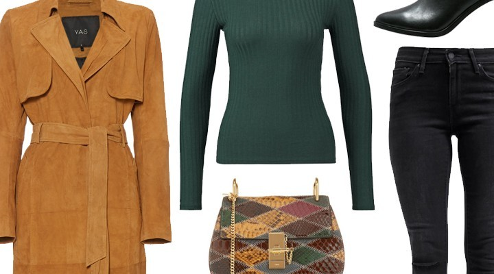 Styled by Manon #433 / Suede Trenchcoat