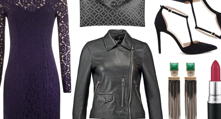 Styled by Manon #478 / Purple lace dress