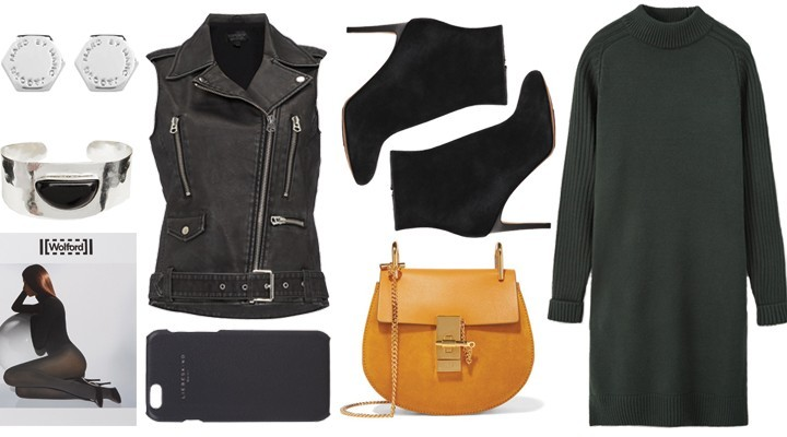 Styled by Manon #555 / Sleeveless leather jacket