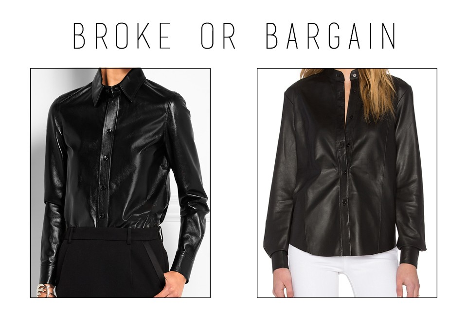 Glossed-leather blouse