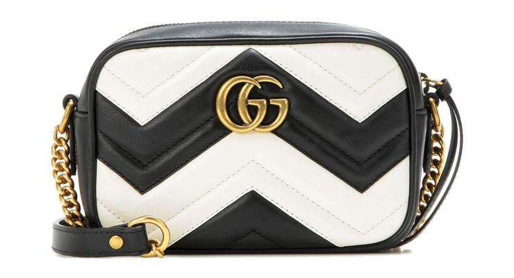 Broke or Bargain - Zwart witte Gucci Marmont Camera bag 7f4876677a
