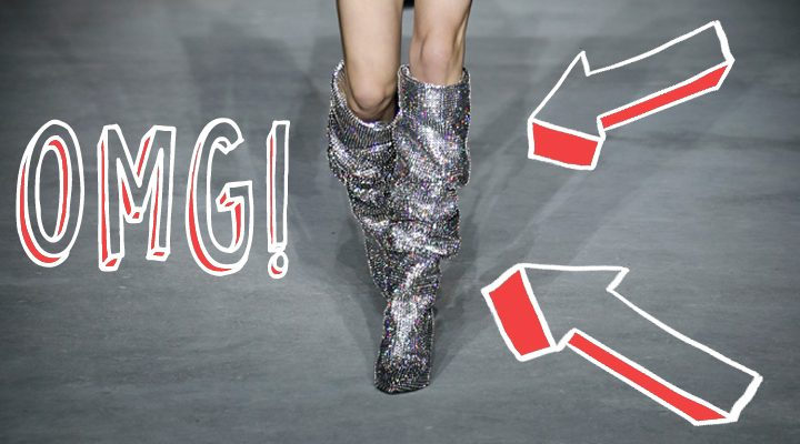 SAINT LAURENT GLITTER BOOTS STRESS