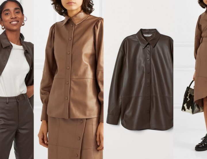 Broke or Bargain: Ganni leather shirt